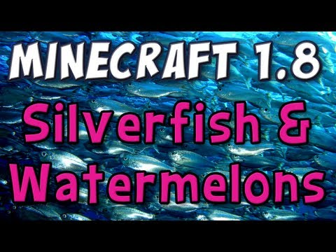 Minecraft - Silverfish and Watermelons (1.8 Prerelease Part 5) Music Videos