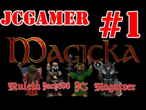 Playthrough Magicka - Cap.2 - Coop Online/ Tirando onda de Mago Amarelo/ Espada Mestre dos Magos