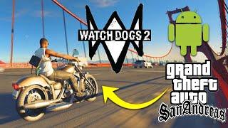 Watch Dogs 2 High Graphics GTA SA MOD Android || High Graphics ENB MOD On GTA San Andreas Android