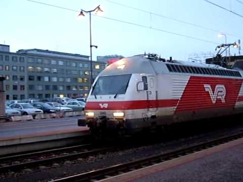 Finland VR SR2 IC Train at Tampere Station