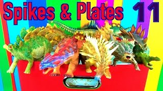 DINOSAUR Box 11 TOY COLLECTION - SPIKED & PLATED DINOSAURS Unboxing Toy Review SuperFunReviews