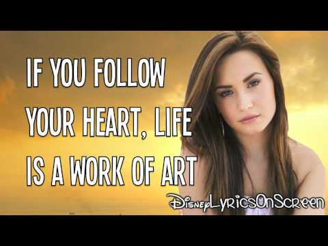 Demi Lovato Lyrics on Demi Lovato   Work Of Art  Lyrics Video  Hd Music Videos