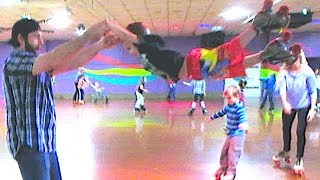 EXTREME ROLLERSKATING WITH KIDS!