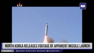 North Korea releases footage of apparent missile launch