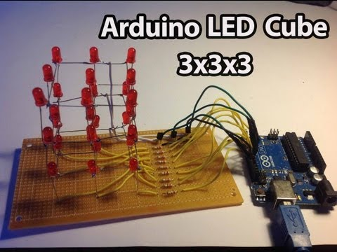 Arduino - LED Cube 3x3x3 [Full Tutorial]