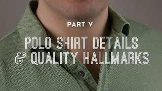 Polo Shirt Details & Quality Hallmarks - Part 5