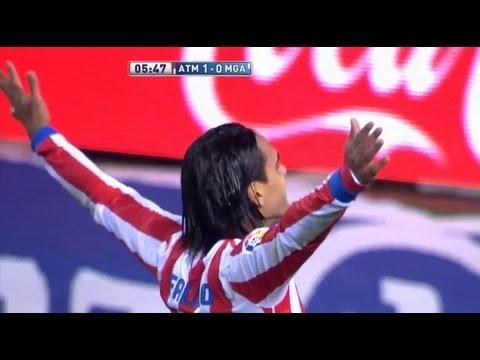 La Liga | Gol de Falcao (1-0) en el Atlético de Madrid - Málaga CF