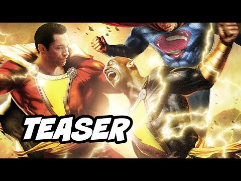Shazam Black Adam Scene - Shazam vs Black Adam Teaser Breakdown