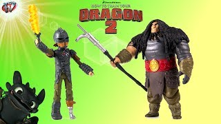 How To Train Your Dragon 2: Hiccup vs Drago Figures 2-Pack Toy Review, Spin Master