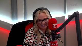 Robbie Williams and Emma Bunton playing popquiz  Heart Radio 2016