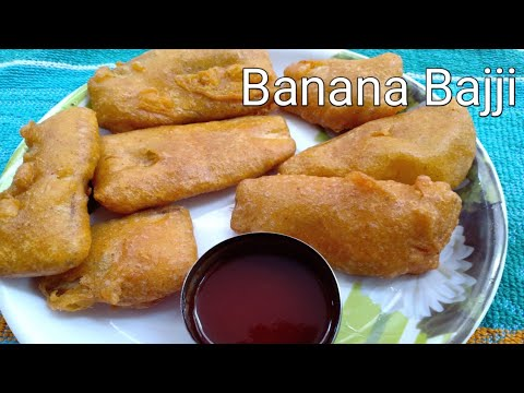 Aratikaya Bajji | Banana Bajji recipe preparation in telugu | Banana Pakora