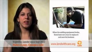Lendwithcare.org TV advert - Make a loan, change a life