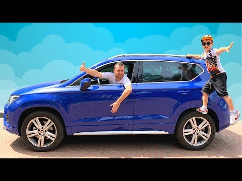 Funny story about the lost bag of toys | Timko and Papa Ride on Cars
