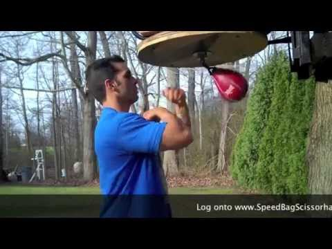 Speed Bag Scissorhands - Super Advanced Speed Bag Training Technique ! floyd mayweather tiger woods Image 1