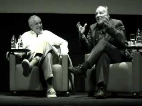Photo of Errol Morris & his friend director  Werner Hezog - New York