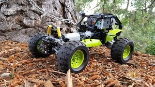 Technical LEGO: Lime Runner — a 42037 RC makeover