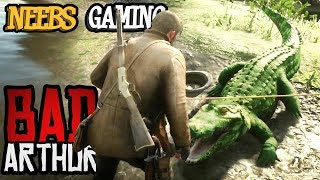 ALLIGATOR ATTACK - Bad Arthur - (Red Dead Redemption 2 Cinematic Series)