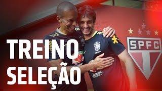 SELEÇÃO BRASILEIRA NO CT DA BARRA FUNDA + MIRANDA E RODRIGO CAIO | SPFCTV