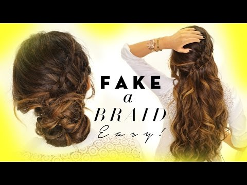 ★ 3-Minute EASY HAIRSTYLES | Fake Ladder-Braid for Medium Long Hair
