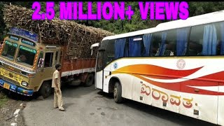 Dhimbam ghat road volvo bus taking risks