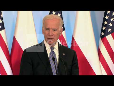 POLAND:BIDEN - RUSSIA STANDS ALONE