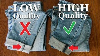 10 Tricks To Spot HIGH Quality Clothes!