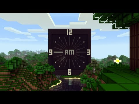 Minecraft Piston Analog Clock – 2MineCraft.com