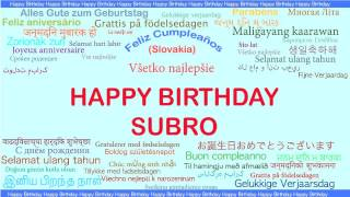 Subro   Languages Idiomas - Happy Birthday