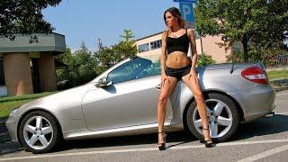 Fast Driving Girls - Sarah driving Mercedes SLK in high heels (V067)
