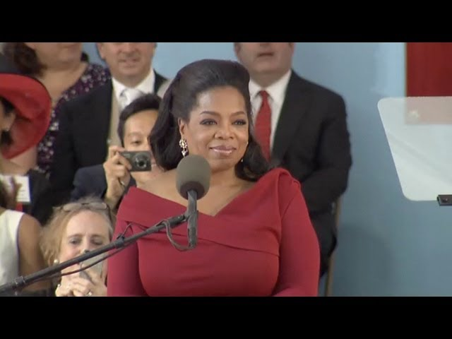 Oprah Winfrey Harvard Commencement speech | Harvard Commencement 2013