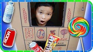 SODA Machine Turn Into Candy Vending Machine!!! Kids Pretend Play