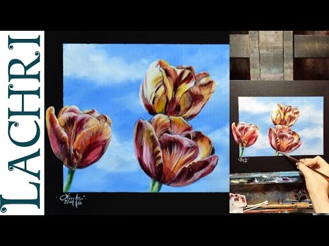 How to blend wet into wet - acrylic painting  demo w/ Lachri