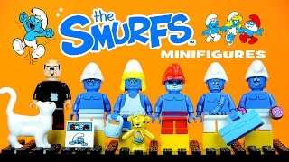 LEGO The Smurfs in Paradise KnockOff Minifigures Smurfette, Papa Smurfs & Gargamel