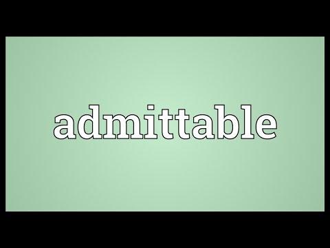 Header of Admittable