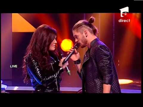 Alex Maţaev Feat. Paula Seling - Pink - just Give Me A Reason - X Factor Romania, Sezonul Trei video