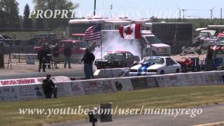 HUGE DOUBLE WHEELIE DRAG RACING