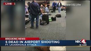 Gunman kills 5 people, wounds 8 at Fort Lauderdale airport