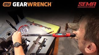The GEARWRENCH® 120XP and Electronic Torque Wrench with Angle at SEMA 2018 with Jamie and Bill