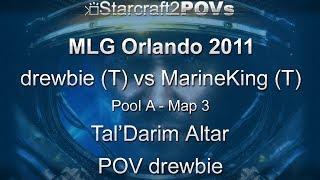 SC2 WoL - MLG Orlando 2011 - drewbie vs MarineKing - Pool A - Map 3 - Tal'Darim Altar - drewbie