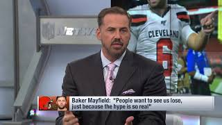 NFL Network's Shaun O'Hara reacts to Baker Mayfield saying people are rooting for Browns to lose