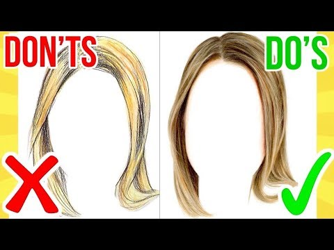 Dos Ts How To Draw Realistic Hair Using Coloured