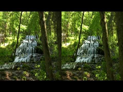 3D HD Relaxing Video - Magic Forest  - yt3d Youtube 3D