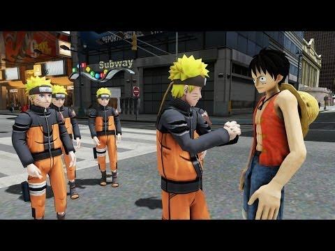 Naruto vs Luffy (One Piece) - EPIC BATTLE - Grand Theft Auto