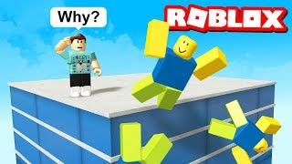 FALL OFF A BUILDING SIMULATOR IN ROBLOX