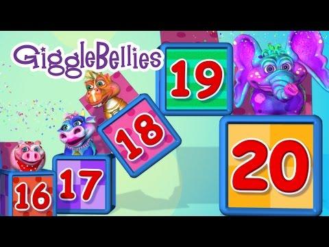 20 GiggleBellies 10 Little Indians  Learning Songs  GiggleBellies