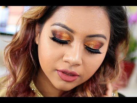 Eid Makeup Tutorial 2017 | Golden Copper Smokey Eye