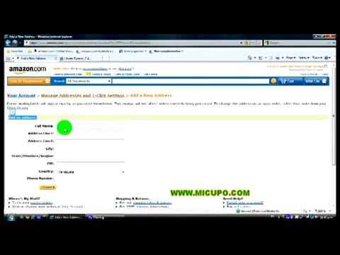 ¿Como ingresar mis direcciones de envió y facturación en Amazon?