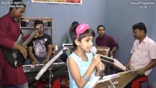Bondhu Tin Din Song Live by Anushree Kundu (Child)   Bhorai Institute   Annual Programme - 2016