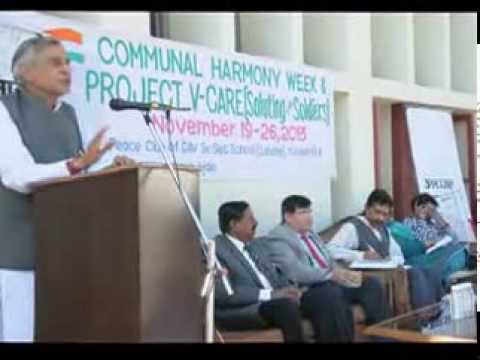 MP Pawan Bansal, Communal Harmony Week at DAV Sr Sec School Chandigarh.
