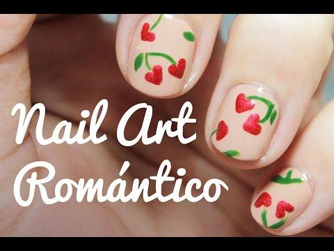 Decoración de uñas cortas para el Día de los Enamorados   Nail Art Corazones